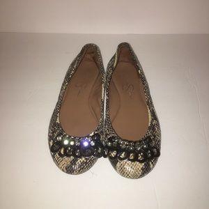 ♥️ Jessica Simpson Womens Shoes 6/35 Snake Print